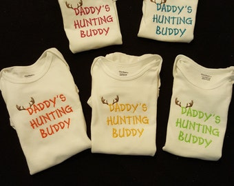 Daddy's Hunting Buddy Embroidered Bodysuit