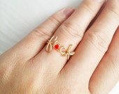 F*uck handmade wired rings.