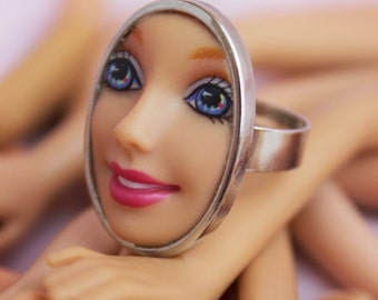 Barbie Oval Face Adjustable Ring  | Dollfaced