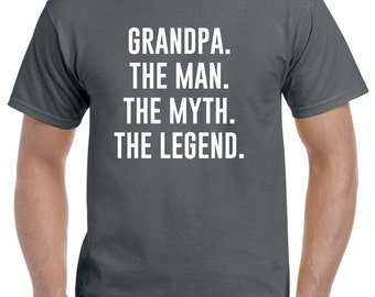Funny Grandpa Gift-The Man The Myth The Legend Funny Grandpa T Shirt Grandparent Fathers Day Gift