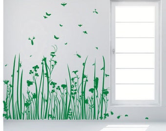wall sticker wall decals  MEADOW