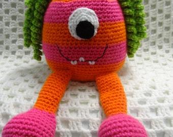Monster toy, Monster Softie, Girl Gift, Girl Toy, Monster, crochet toy, amigurumi, crochet softie