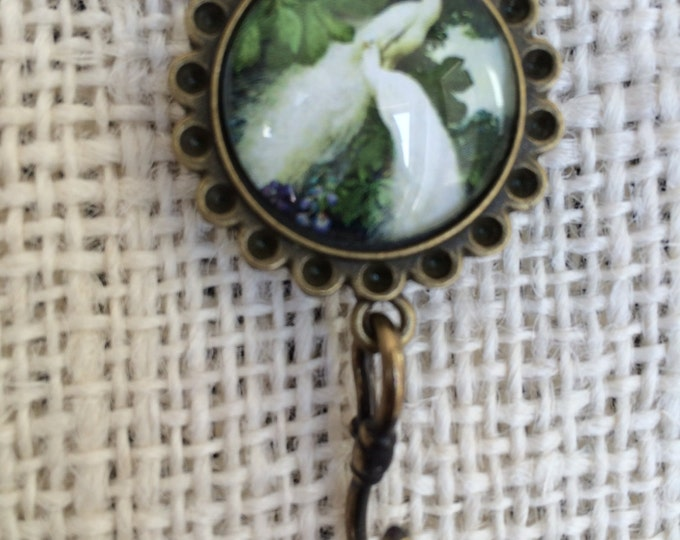 Knitting Pin - Magnetic Knitting Pin for Portuguese Knitting -  White Peacock