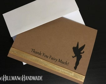 Tinker Bell Thank You Cards, Peter Pan Thank you Cards, Neverland Thank you Cards