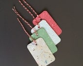 RECYCLED PAPER - 20 multicolor MINICARDS with hole and string