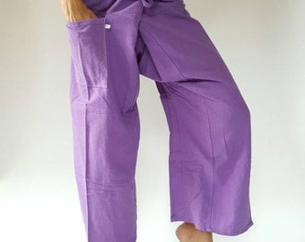 F00 Purple Thai fisherman/Yoga are pants Free-size: Will fit men or woman