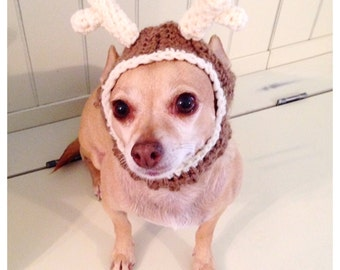 Small Reindeer Dog Hat