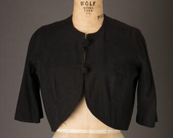 1950s Short Black Dress Jacket | Amour