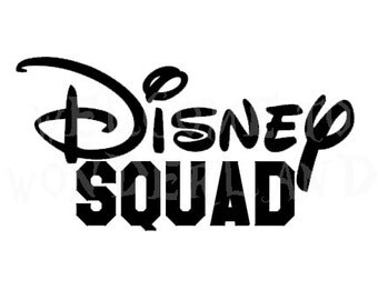 DIY DISNEY SQUAD baby kids boys mens adult Iron On Decal Custom Color Black Red White Gold