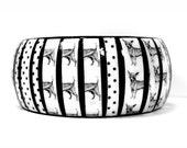Chihuahua Bracelet - Dog Jewelry, Chihuahua Gift, Decoupage Wood Bangle for Dog Lover