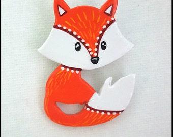 Cute little fox, ceramic jewellery