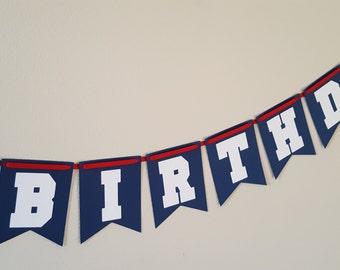 Baseball Happy Birthday Banner, Baseball Birthday, Baseball Party, Baseball Banner, Baseball