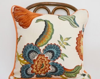 18x18 Celerie Kemble Hothouse Flowers Pillow Cover