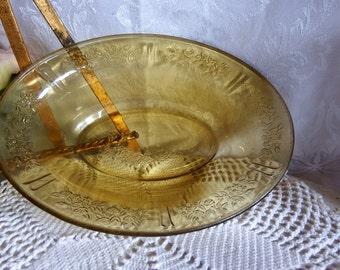 Vintage 1930s//  Oval Vegetable Bowl // Sharon-Amber // Federal Glass // Depression Glass
