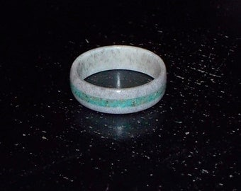 Shed Antler with Kingman Turquoise ring