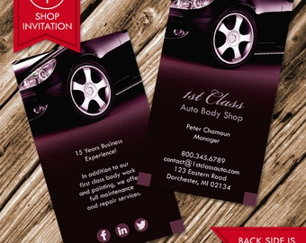 Auto Body Shop Business Card (Free Shipping)