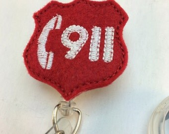 Emergency 911 felty badge cover-911 felty-medical felty-medical badge cover-emergency badge cover-emergency badge id-ER badge id-paramedics