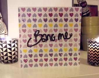 """Bang Me"" greeting card"