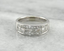 Baguette and Square Cut Diamond Band  6MUWY2-D