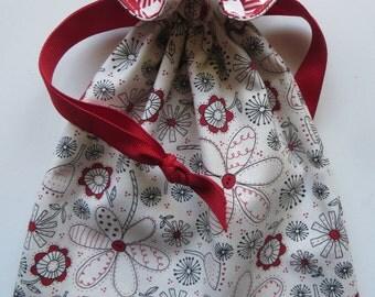 Lined Drawstring Fabric Gift Bag