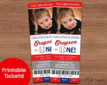 Baseball Ticket Birthday Invitation Digital Download