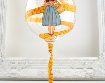 Dorothy In Oz Wine Goblet