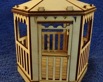 Small Gazebo miniature dollhouse model