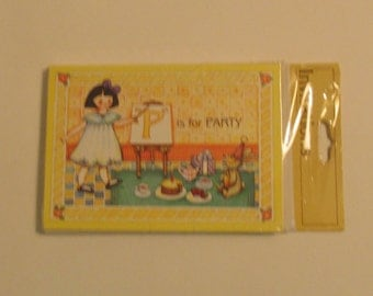 P is for Party 8 Packaged Invitations Gibson Greeting Inc. Made in USA
