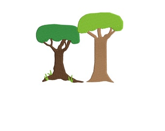trees Embroidery Design