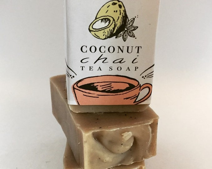 Featured listing image: Jody's Naturals Coconut Chai Tea Soap, Vegan, Cold Process Soap, Hand crafted, Victoria BC, Vancouver Island