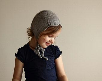 knit baby bonnet, warm merino bonnet, wool bonnet, knit wool hat, winter bonnet, baby shower gift ideas nb 0-3 3-6 6-12 12-24 newborn girl