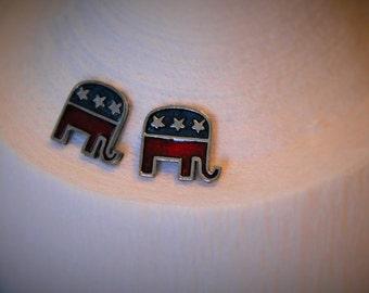 Republican Elephant Stud Earrings!