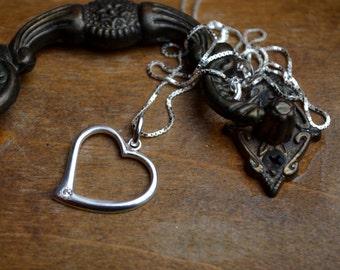 Precious Heart pendant necklace sterling silver