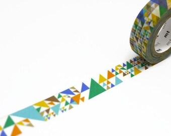 Blue MT Washi Tape - Sankaku Pattern MT Masking Tape - Japanese Washi Tape