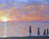 Original Art Print Sunset...