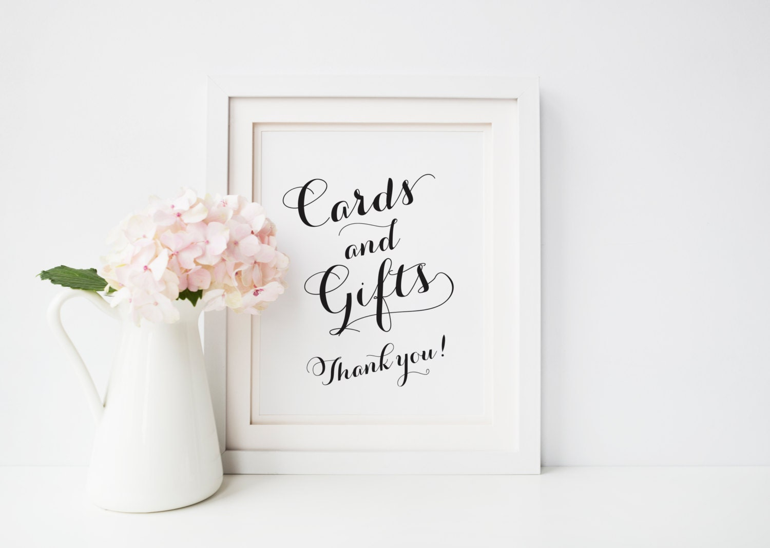 cards and gifts sign printable wedding gift table sign 8x10