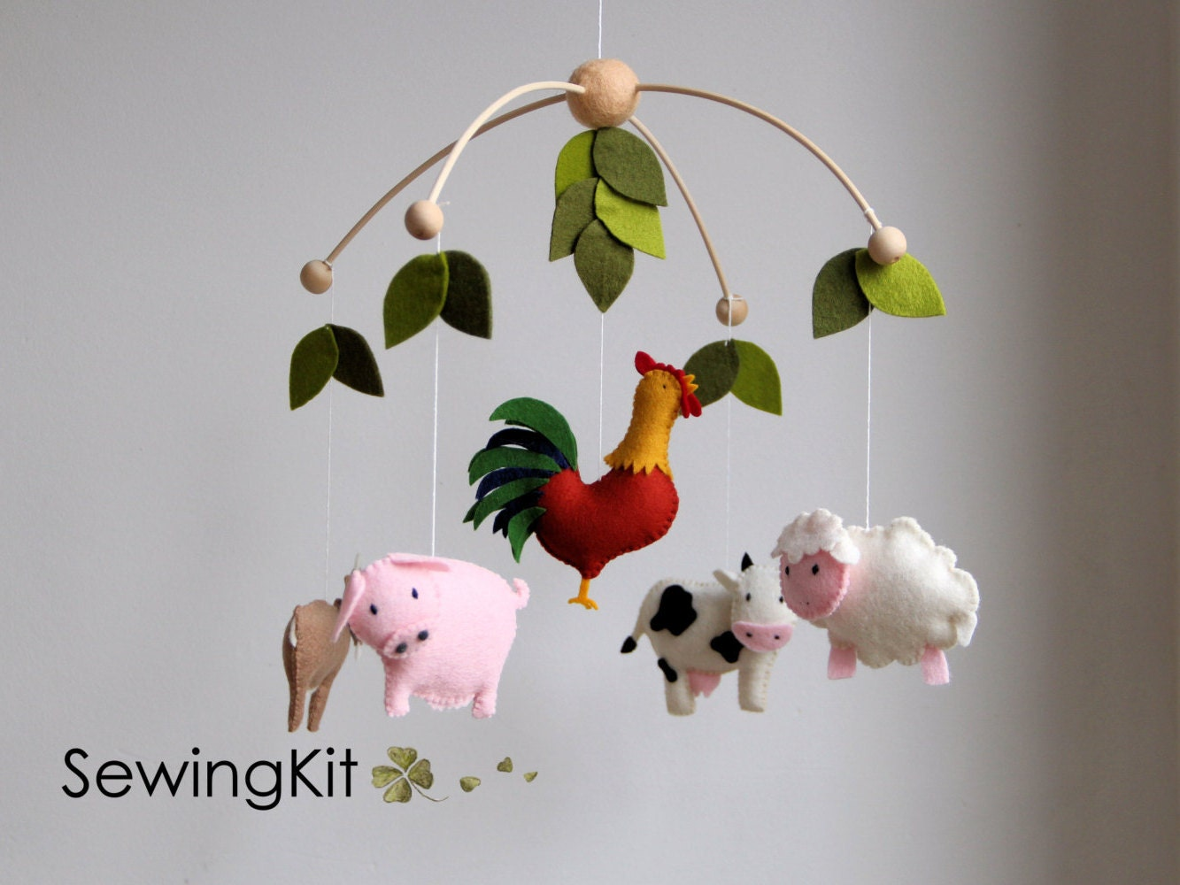 baby ferme mobile mobile b b bricolage animal de ferme. Black Bedroom Furniture Sets. Home Design Ideas