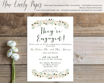 Printable Engagement Party Invitation - the Sophie Collection