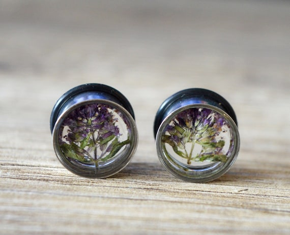 Real Flower Plugs Steel Plugs 9 16 Plugs 14mm Plugs Real