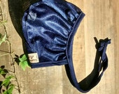 Navy All Mesh Hat for those with hearing aids/cochlear implants