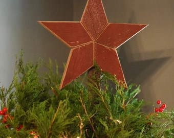 star topper christmas tree decoration 10 inch christmas tree star made from red barn wood - 12 Inch Christmas Tree
