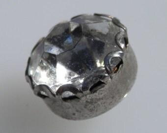 Vintage LG Rhinestone Button