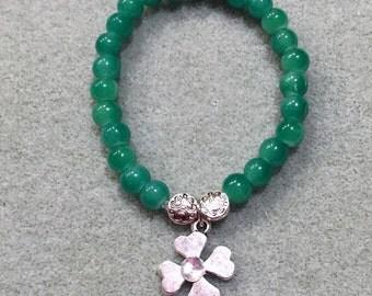 4-Leaf Clover, St Patrick's Day Bracelet, for Girl