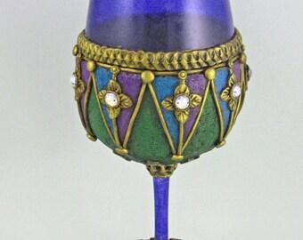 Mardi Gras Goblet, Jovial Jester Goblet