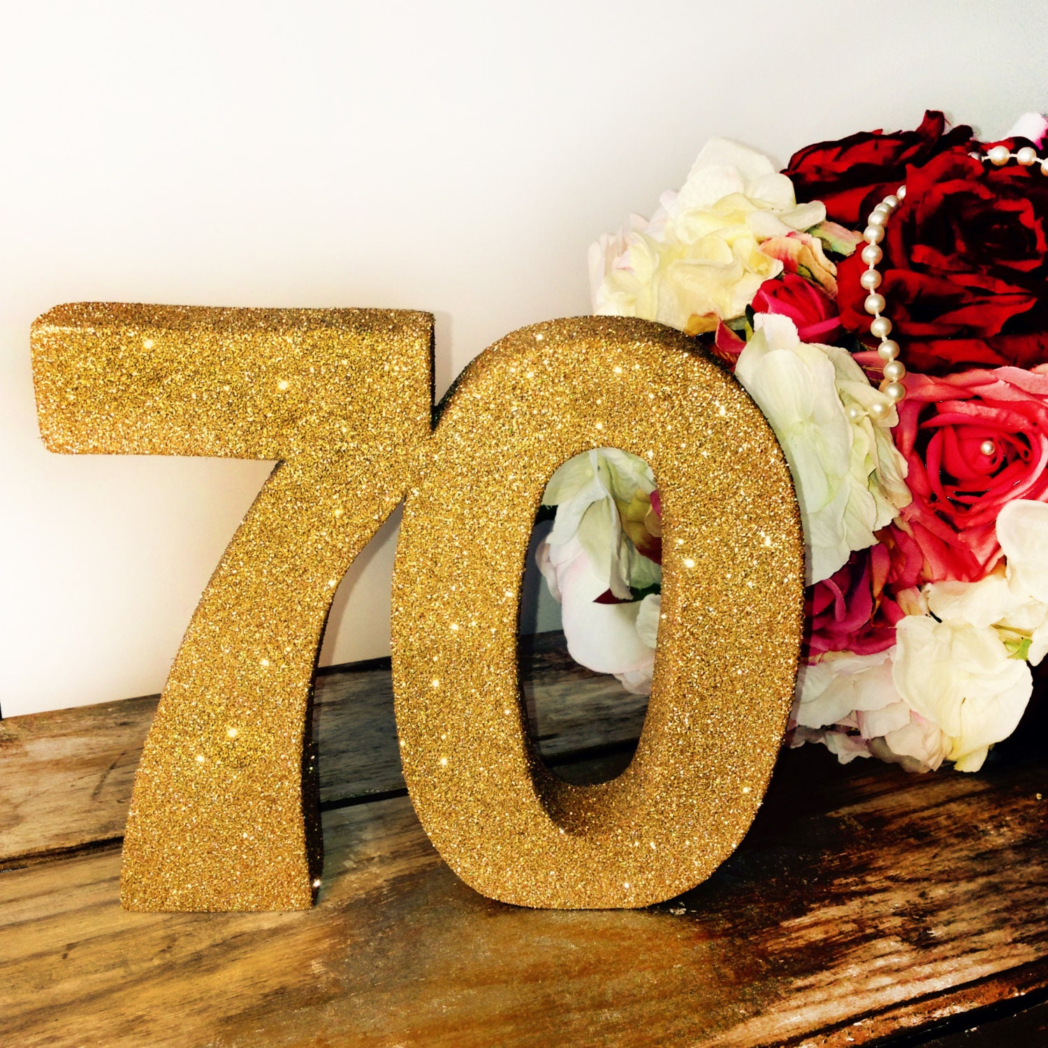 70th birthday decoration large glitter number birthday party for Number 1 decorations