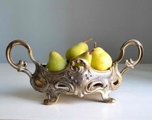 Antique Art Deco French jardiniere urn planter, centerpiece spelter planter, 19 th century- French chateau style