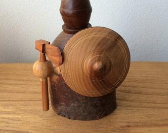 Handmade  Wood  Viking