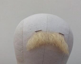 Lace fake moustache human hair