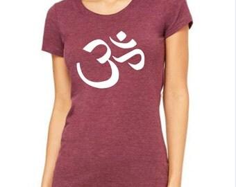 Om symbol ladies tshirt size S M L XL