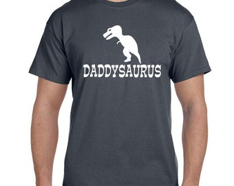 Daddy Gifts Christmas Gifts Gift for Dad Personalized Mens Gift from Baby Gift from Kids Gift from Son Daddy Shirt Funny Daddysaurus Rex